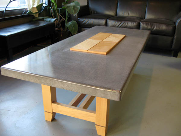 Touchstone concrete designs hand crafted concrete for Php table design
